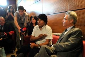 Er kenne keinen Snowden, sagte Morales vor einem Gespräch mit Heinz Fischer.