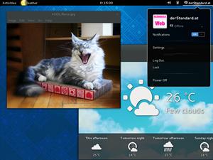 Als Desktop kommt GNOME 3.8 zum Einsatz...