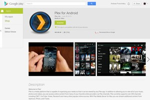 Der Google Play Store in neuem Design.