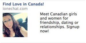 Eine der Anzeigen, die mit dem Bild der Verstorbenen für eine Datingplattform warben.