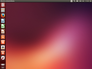 Der Desktop präsentiert sich wie von früheren Versionen gewohnt, lediglich das neue Wallpaper weist auf eine neue Release hin.