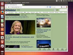 Auch der Firefox 24 ist aktuell, was leider auf viele andere Komponenten - vor allem aus der GNOME-Welt - nicht zutrifft.