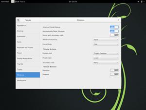 openSUSE liefert den GNOME mittlerweile ohne eigene Anpassungen aus. Das GNOME Tweak Tool für Feineinstellungen wandert aber fix auf den Datenträger.