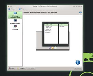 Mit KScreen gibt es eine neues Tool zur Einrichtung der Bildschirmeinstellungen.