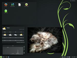 Der KDE-Desktop ist in der Version 4.11 enthalten, die mittlerweile sehr ausgereift wirkt.