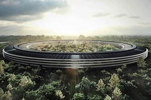 So soll der Hauptbau von Apples neuem Campus einmal aussehen.