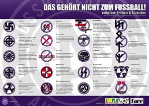 Die Liste verbotener Symbole und Abzeichen in der Generali-Arena.