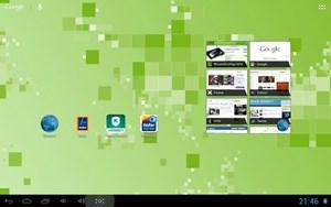 Das Android-Interface ist weitestgehend unverändert, aufgrund seltsamer DPI-Einstellungen sind Icons und Zeichen jedoch ziemlich klein.