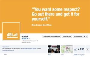 Auch die Facebook-Seite der Etat-Redaktion bekam die Änderungen zu spüren.