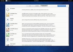 Auch die Updates werden an dieser Stelle dargeboten. OS-Updates werden dabei zusammengefasst, ein Klick darauf offenbart weitere Details. Systemrelevante Aktualisierungen sind mit einem Reboot verbunden.