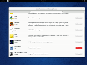GNOME Software ist allerdings auch anzumerken, dass es noch recht jung ist. So liefert die Suche nur bedingt relevant Ergebnisse.