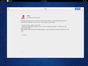 Auch die Detailansicht ist eher minimalistisch gehalten. Für Fedora 21 sollen dann Screenshots und Bewertungsmöglichkeiten hinzukommen.
