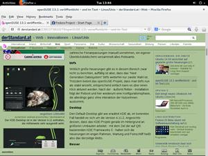 Als Browser setzt Fedora wie gewohnt auf den Firefox von Mozilla.