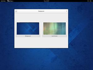 """Als Desktop kommt GNOME 3.10 zum Einsatz, bei dem einige grundlegende Design-Änderungen vorgenommen wurden. Etwa die Zusammenführung von Titelzeile und Navigation in die neuen """"Header Bars""""."""