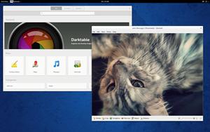 Neu hinzugekommen ist GNOME Software (links im Bild), das die bisherigen Packagekit-Tools in einem Programm vereint. Die Oberfläche ist dabei optisch durchaus ansprechend geworden.
