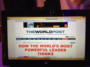 "Der erste Aufmacher der ""World Post"" widmet sich dem chinesischen Präsidenten: ""How The World's Most Powerful Leader Thinks"""
