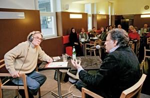 Karl Löbl, hier im Bild mit Zubin Mehta.