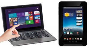 Akoya-Notebook und Lifetab-Android-Tablet.