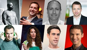 Einige der Speaker beim Marketing Rockstars Festival: Scott Morrison (Diesel), F. Scott Woods von Facebook, Kenny Jacobs von Ryanair, Franz Drack (Absolut Vodka), Stefan Zilch (Spotify), Samantha Yarwood (Starbucks), Ryan Holiday von American Apparel, Raymond Braun (YouTube).