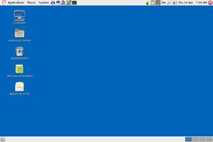 Der Desktop von Tails basiert auf GNOME 2.30.