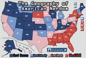 Die Nerdiness der USA laut Estately.