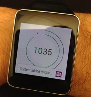 OneNote auf Android Wear.