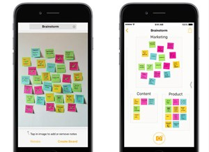 "Post-its fotografieren und am Smartphone neu organisieren. Funktioniert mit ""Post-it Plus"""