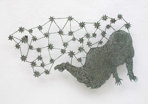 Galerie Steinek: Kiki Smith, Girl with Stars I, 2004Bronze, 44,4 x 75,6 x 5,1 cmPrivatsammlungCourtesy Barbara Gross Galerie, München