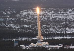 Der Start der TEXUS-49-Rakete in Kiruna.
