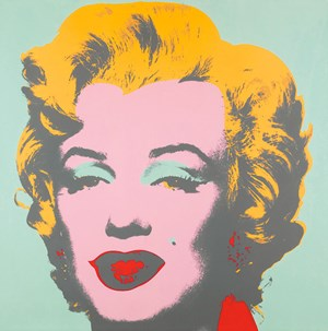 "Screenprint ""Marilyn"" von Andy Warhol."