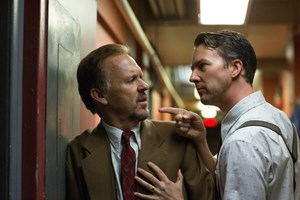 Riggan Thomson (Michael Keaton) und Mike Shiner (Edward Norton)