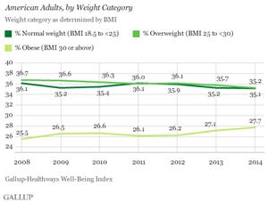 übergewicht statistik
