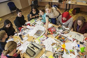Zine-Workshop in Salzburg.