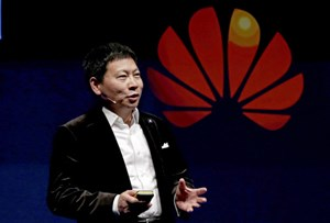 Huawei Chief Executive Richard Yu auf dem