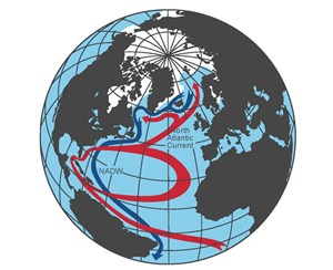 Grafik der Atlantic Meridional Overturning Circulation (AMOC).