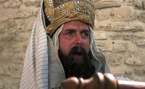 "John Cleese in ""Monty Python's Life of Brian""."