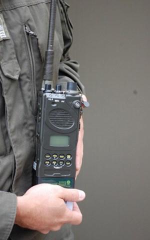 Handfunkgerät RT-9101A des Systems Conrad, das seit dem Vorjahr bei der Truppe ist