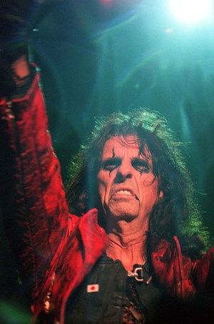 Vincent D. Furnier alias Alice Cooper live on Stage.
