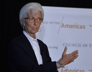 Wütend wegen der US-Blockade: Christine Lagarde.