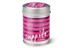 Gewürzmischung Smokey Secret, 50 g um 8,80 Euro bei Suppito, Girardigasse 9, 1060 Wien