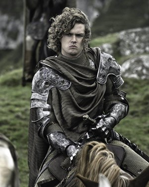 "Finn Jones als ""Ritter der Blumen"" in der HBO-Serie ""Game of Thrones""."