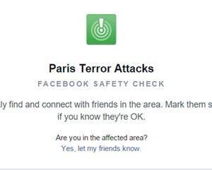Facebooks Safety Check.