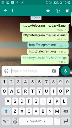 Whatsapp will den Konkurrenten partout nicht verlinken.