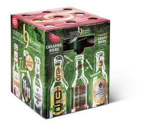 Craft-Bier-Box, 9 Flaschen um 15,90 Euro,z. B. bei Intersparwww.culturbrauer.at