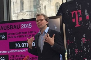 T-Mobile-Chef Andreas Bierwirth bei der Pressekonfernez in Wien.