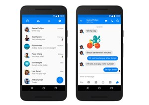 Neues Design für die Android-Version des Facebook Messengers.