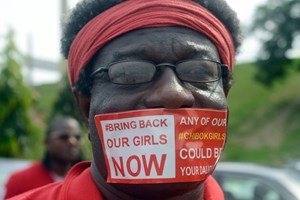 Proteste in Chibok.