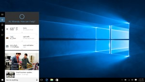 Cortana unter Windows 10.