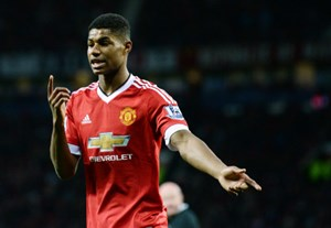 "Marcus Rashford schnuppert bei den ""Three Lions""."