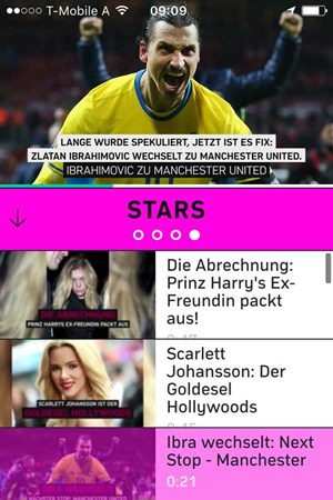 "Bewegte Bilder am Handy: ""4News""."